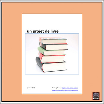Un projet de livre – A French Book Project – Activity Cards