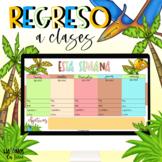 Un regreso a clases (temática de los dinosaurios) /diapostitivas /plantillas