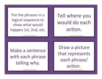 Un viaje en avión: Making Phrases and Task Cards