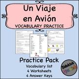 Un viaje en avión Vocabulary Practice Worksheets (Así Se D