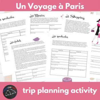 Un voyage à Paris - Internet activity unit