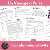 Un voyage à Paris - Internet activity unit