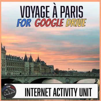 Un voyage à Paris activity for Google Drive