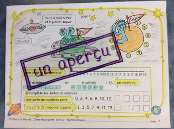 Un voyage dans l'univers des mathématiques- FRENCH-Math Workbooklet-Gr. 1-2