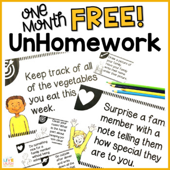UnHomework - FREE Tasks to Promote Kindness, Good Habits, and Creativity