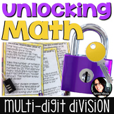 UnLOCKing Math Long Division 4.NBT.6 5.NBT.6 *FUN* Math Activity