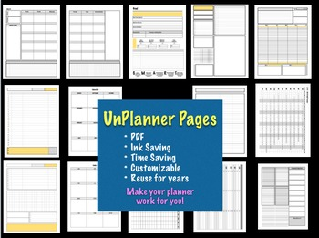 UnPlanner Pages