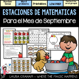September Math Stations in Spanish