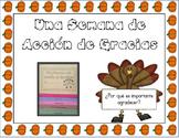 Una Semana De Acción De Gracias