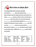 Una Visita con Papá Noel Spanish reading review worksheet