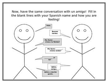 Una conversación básica / A basic conversation in Spanish -  Roll playing