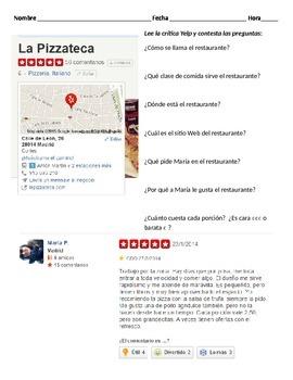 Una critica de un restaurante (PEDIR y SERVIR)
