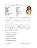 Preterite Reading in Spanish + Worksheet: Fiesta Lectura: Pretérito (SUB PLAN)