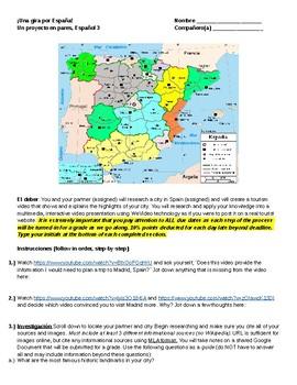Una gira por España Level 3 or 4 Spanish project/IPA