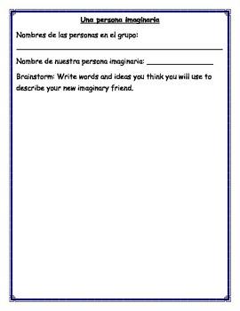 Una persona imaginaria / Imaginary Friend Assignment