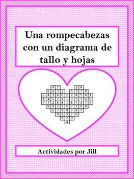 Stem and Leaf Heart Puzzle (Spanish)