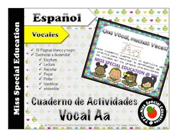 DOLLAR DEALS: Tareas para trabajar la Vocal A  (Español/Spanish - Vowels)