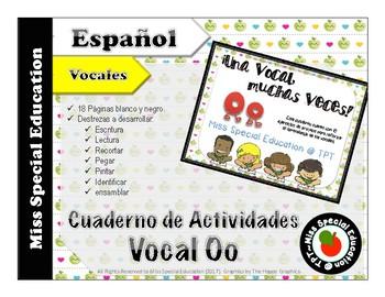 Las vocales - Hojas de Tarea para trabajar la Vocal O (Español/Spanish - Vowels)