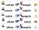 Unaccented Final Syllable Sorting Activity & Game -en, -on, -ain, -in