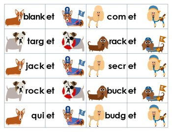 Unaccented Final Syllable Sorting Activity & Game: -et, -it, ate