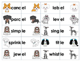 Unaccented Final Syllable Sort & Game -le, -el, -il, -al