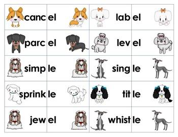 Unacceted Final Syllable Sort & Game -le, -el, -il, -al