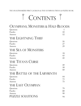 Unauthorized Percy Jackson & the Olympians Trivia & Puzzle Book