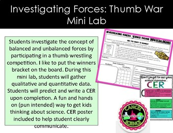 Unbalanced and Balanced Forces Lab-Thumb Wrestling