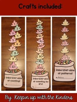 Unbe-LEAF-able Math Craftivities