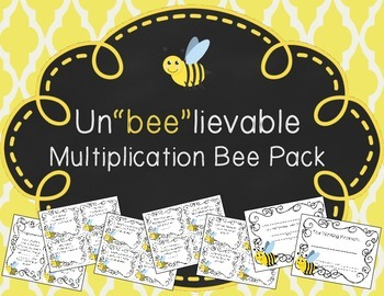 "Multiplication Bee Pack: Un""BEE""lievable Certificates & Notes"