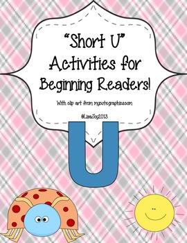 """Unbelievable """"Short U"""" Activities for Beginning Readers!"""