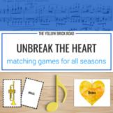Unbreak the Heart: music matching games