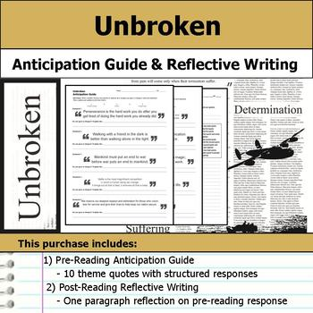 Unbroken - Anticipation Guide & Reflection Writing