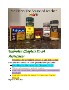 Unbroken Chapters 23-24 Assessment