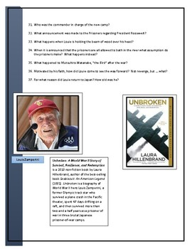 Unbroken Movie Guide and questions
