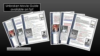 Unbroken - Movie worksheet