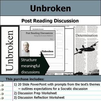 Unbroken - Socratic Method - Post Reading Discussions