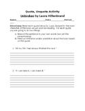 Unbroken Unit Plan