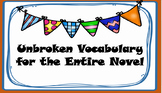 Unbroken Vocabulary - YA Entire Book