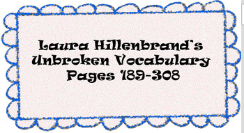 Unbroken Vocabulary pg 189-308