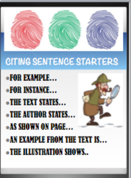 Citing Evidence Starters