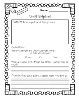 Uncle Elephant Guided Reading Packet