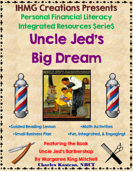 """""""Uncle Jed's Barbershop""""-No Prep Level A (ELA/Math/Personal Financial Literacy)"""