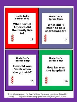Uncle Jed's Barber Shop Reading Comprehension Book Unit