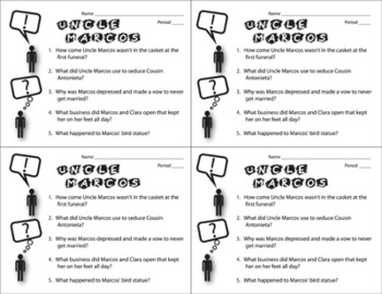 Uncle Marcos Pop Quiz & Discussion Questions (by Isabel Allende)
