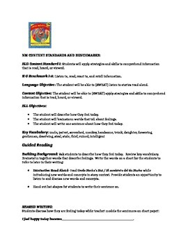 Uncle Nacho's Hat Guided Reading Lesson plan for ELLs