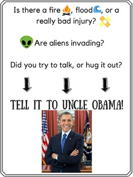 Uncle Obama Tattle Poster FREEBIE