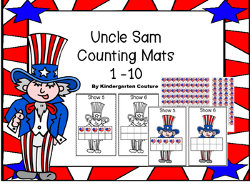 Uncle Sam Counting Mats