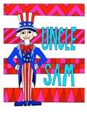 Uncle Sam Design Coloring Page