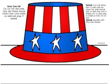 uncle sam hat printable craft by joliedesign teachers pay teachers
